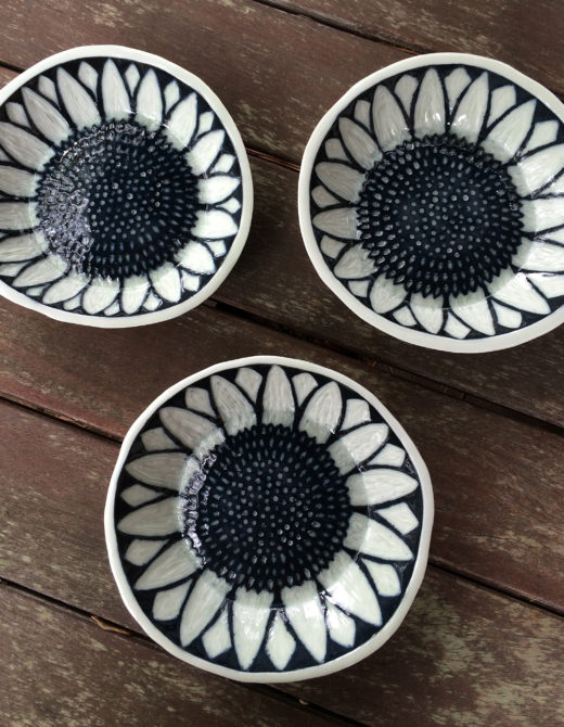 Porcelain Sunflower Bowls