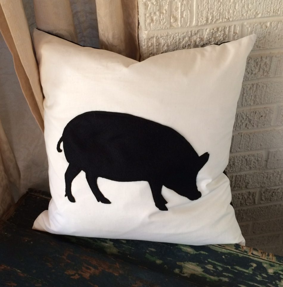 Farm Silhouette Pillows