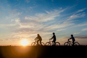 bikingsunset
